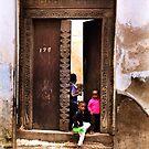 African Kids Zanzibar by Amyn Nasser