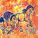 Guide Love. Magical Unicorns Illustration by mellierosetest