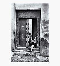 African Kids Stonetown Zanzibar Photographic Print