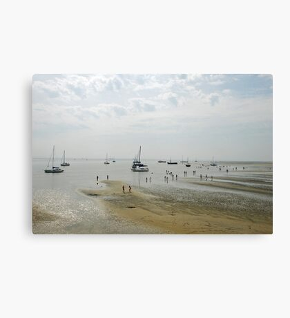 Low tide at Terschelling beach Canvas Print