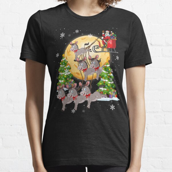 Donkey Reindeer Christmas Funny Dog Cat Lover Essential T-Shirt