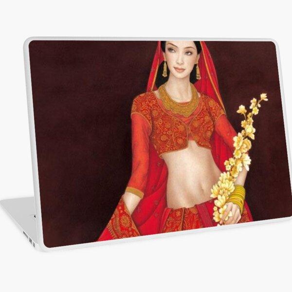 Beautiful Indian Woman Artwork BabyBee Laptop Skin