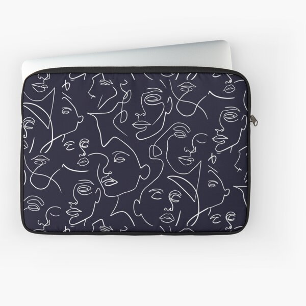 Line art woman faces artwork  Laptop Sleeve