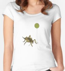 Kiwiautomaton - Wellington tree weta  Women's Fitted Scoop T-Shirt