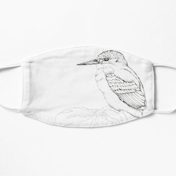 Kingfisher black and white Flat Mask