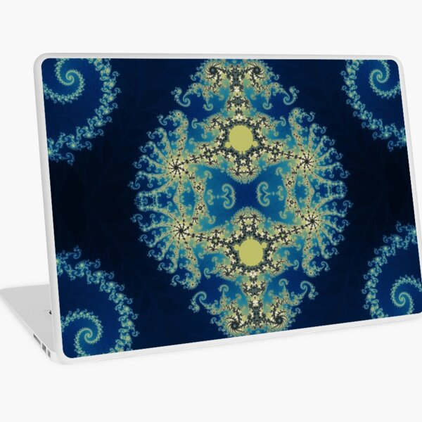 Blue Mandlebrot Laptop Skin