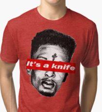 "21 Savage ""it's a knife"" Supreme Tri-blend T-Shirt"