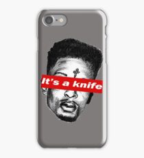"21 Savage ""it's a knife"" Supreme iPhone Case/Skin"