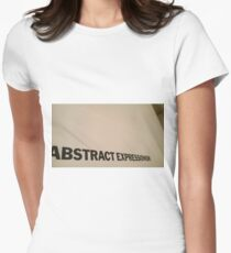Abstract Expressionism Women's Fitted T-Shirt