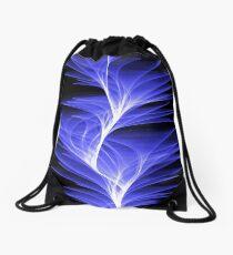 wave lines Drawstring Bag