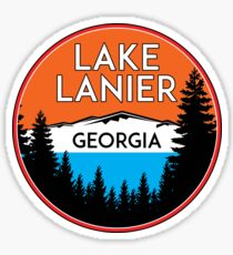 LAKE LANIER GEORGIA ANCHOR GA NAUTICAL HOUSEBOAT BOATING 2 Sticker