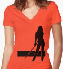 Here comes the bride Women's Fitted V-Neck T-Shirt