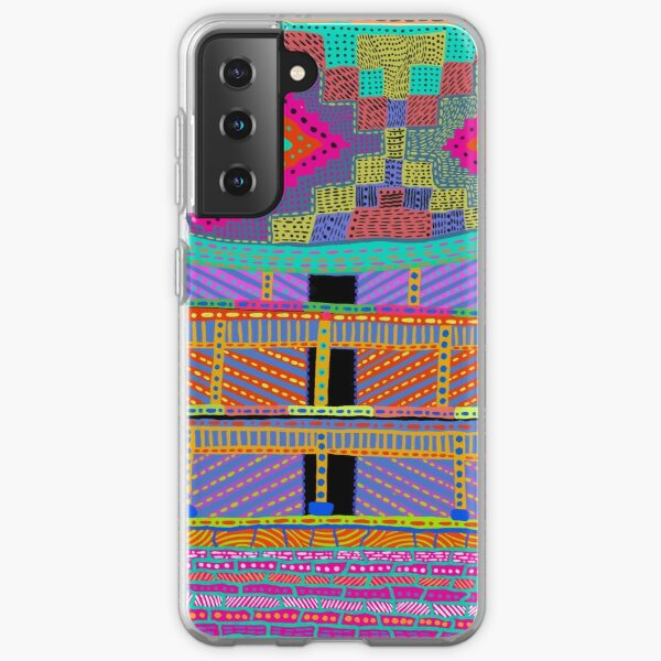 Himalaya Abstract Mountain Home for Nomad Hiker Travelers Samsung Galaxy Soft Case
