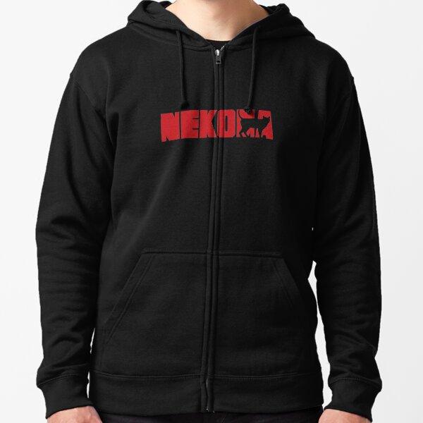 Haikyuu Nekoma Logo shirt Zipped Hoodie
