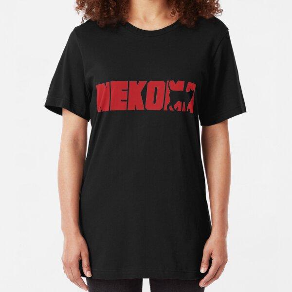 Haikyuu Nekoma Logo shirt Slim Fit T-Shirt