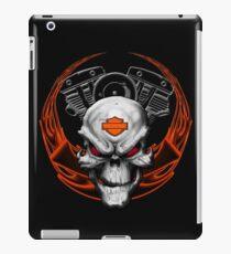 Orange Flames with Skull & Engine iPad Case/Skin