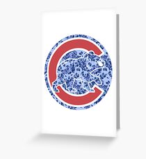 #softcago Cubs Greeting Card