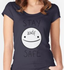 Eddsworld - Stay Safe  Women's Fitted Scoop T-Shirt