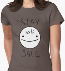 Eddsworld - Stay Safe  Women's Fitted T-Shirt