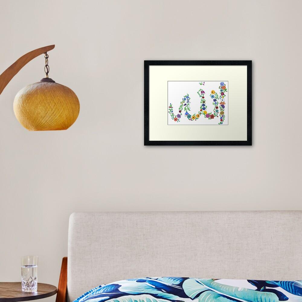 Allah in Flora Framed Art Print