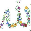 Allah in Flora by HAJRA MEEKS