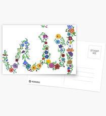 Allah in Flora Postcards