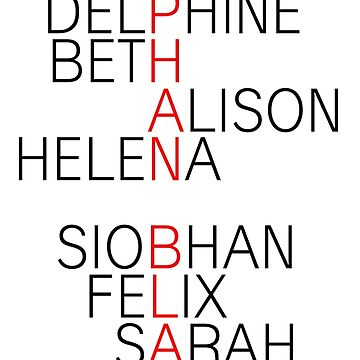 Orphan Black - names by shadoboxer