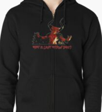 Lord of Darkness - What is light without dark? rev2 Zipped Hoodie