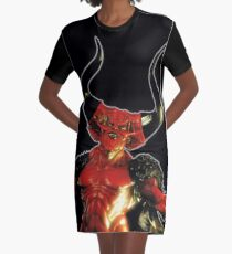 Lord of Darkness - What is light without dark? rev2 Graphic T-Shirt Dress
