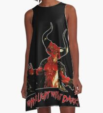 Lord of Darkness - What is light without dark? rev2 A-Line Dress