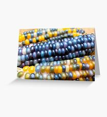 Glass gem corn Greeting Card