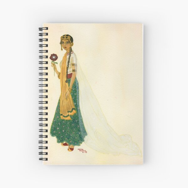 Exotic Princess on Ochre Wash  Spiral Notebook
