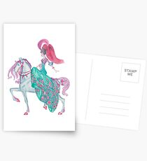 Fairy Tale Princess and Horse Postcards
