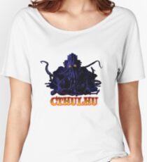 CTHULHU BLUE HP LOVECRAFT Women's Relaxed Fit T-Shirt