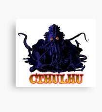 CTHULHU BLUE HP LOVECRAFT Canvas Print