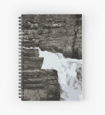 Rush of the Waterfall Spiral Notebook