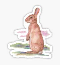 Watercolor Bunny Sticker