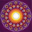 Purple Sunburst Mandala by Amber Bradshaw