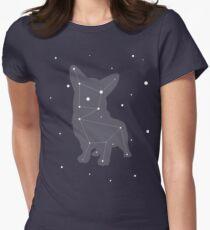 Corgi Constellation Womens Fitted T-Shirt