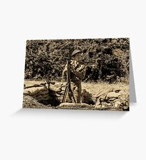 WW2 Soldier Greeting Card