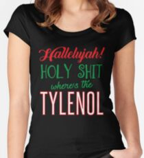Where's The Tylenol Women's Fitted Scoop T-Shirt