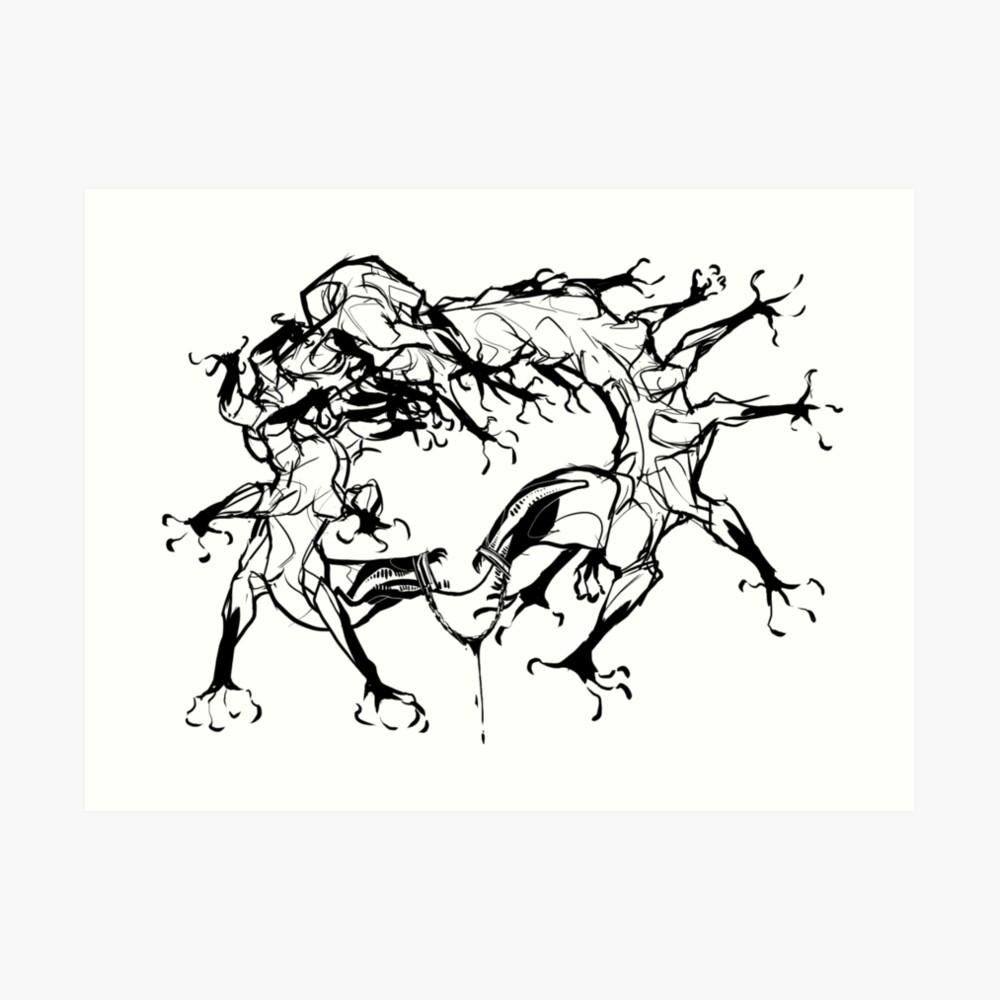 Goretober Torture Art Print
