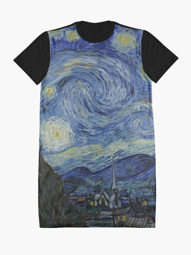 Alternate view of Starry Night (Vincent van Gogh) Graphic T-Shirt Dress