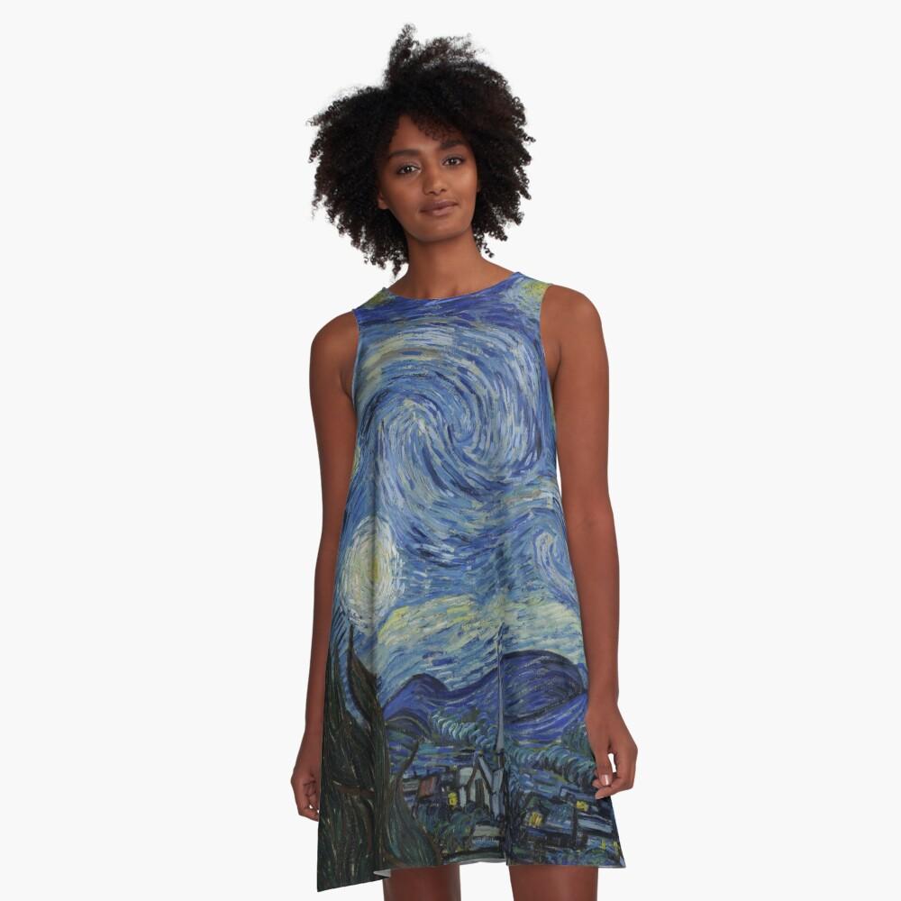 Starry Night (Vincent van Gogh) A-Line Dress