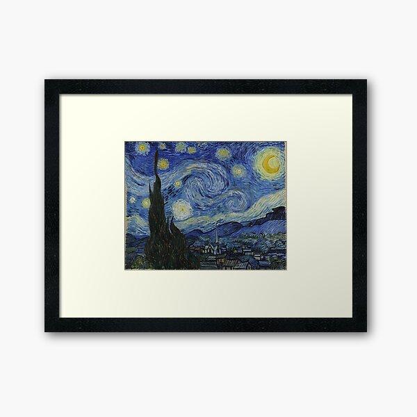 Starry Night (Vincent van Gogh) Framed Art Print