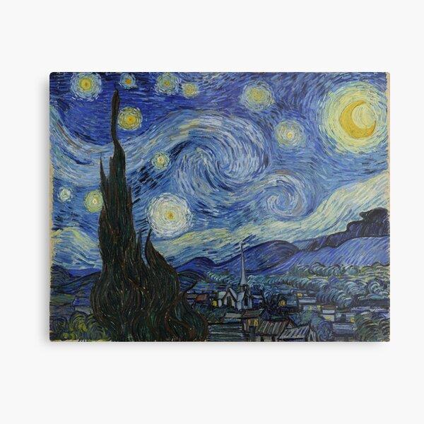Nuit étoilée (Vincent van Gogh) Impression métallique