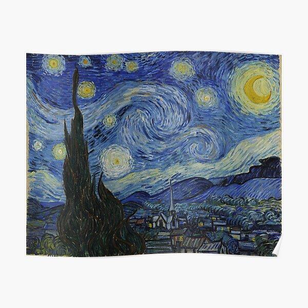 Noche estrellada (Vincent van Gogh) Póster
