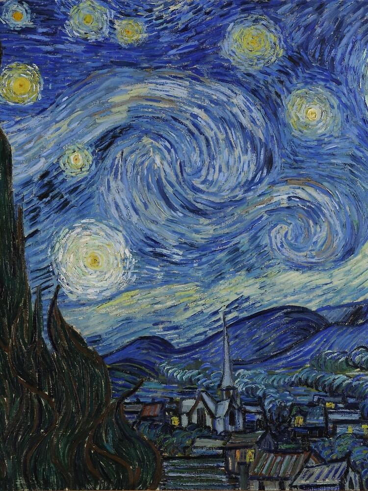 Starry Night (Vincent van Gogh) by dzdn
