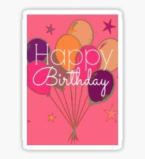 Happy Birthday Pink Cheer Sticker