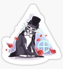 Tuxedo Cat (Tuxedo Mask) Rose Pattern Sticker